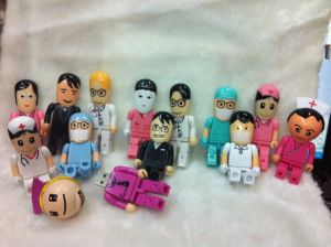Robot Doctors and Nurses USB Flash Drive Hospital Gifts U Disk Creative Personality Custom Logo pictures & photos