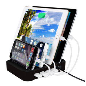 Smart Phone Tablet PC Charging Station 4 Ports USB Charger pictures & photos