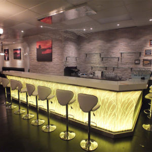 Modern Style Bar Furniture Marble Stone Coffee Shop LED Cafe Commercial Restaurant Bar Counter for Sale pictures & photos