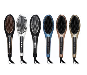 LCD Display Steam Hair Straightener Brush pictures & photos