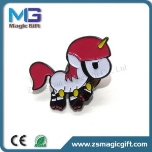 Customized Soft Enamel Cartoon Horse Metal Pin with Black Finished pictures & photos