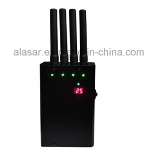 LED Display Battery Capacity Handheld Mobile Signal Jammer pictures & photos