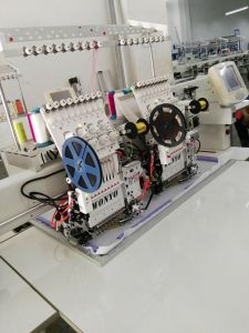 Multi-Head Computerized Embroidery Machine with 2 Head 9/12 Colors for Cap T-Shirt Flat Sequin Cording Embroidery --- Wy1202c pictures & photos