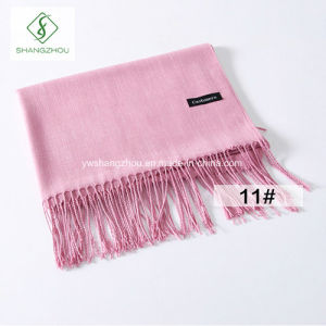 Hot Sell Soft Cashmere Shawl Lady Fashion Long Plain Scarf Wholesale pictures & photos