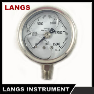 037 Auto Parts Stainless Steel Hydraulic Oil Pressure Gauges pictures & photos