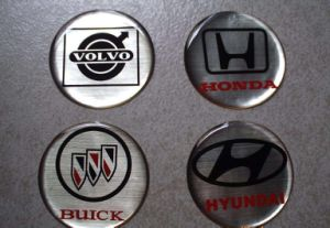 Durable Epoxy Resin Dome Nameplate pictures & photos