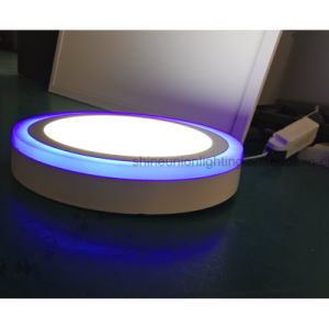 Two Color Round LED Panel Light for Surface (3 steps) (12+4) W pictures & photos