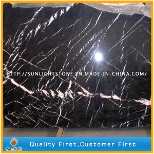 China Black Nero Marquina Marble for Tiles, Countertops, Table Tops pictures & photos