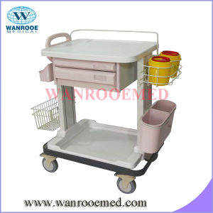 Medication Cart with Sterilize Liquid Bottle Box and Grid Basket pictures & photos