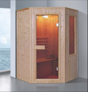 1350mm Diamond Solid Wood Sauna for 4 Persons (AT-8627) pictures & photos