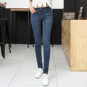 Hot Sale High Waist Pencil Denim Women Jeans pictures & photos