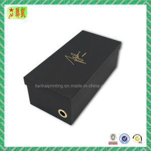 Embossing Luxury Black Cardbord Shoe Box Packing pictures & photos