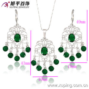 62869 Fashion Cubic Zirconia Palm Hamsa Design Jewelry Set pictures & photos