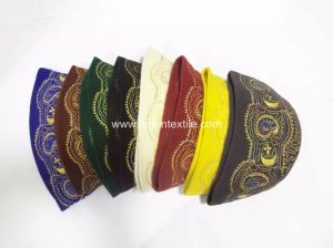 Custom Embroidery Wool Felt Muslim Prayer Hat African Traditional Hats Jacquard Hat  pictures & photos