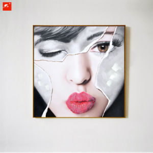 Beautiful Women Face Handmade Oil Painting pictures & photos