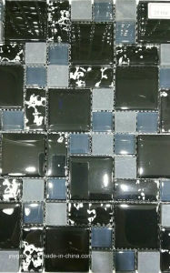 Glass Mosaic with Wall Paper and Stone Jy33k pictures & photos