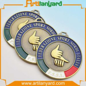 Customized Metal Souvenir Medal with Ribbon pictures & photos