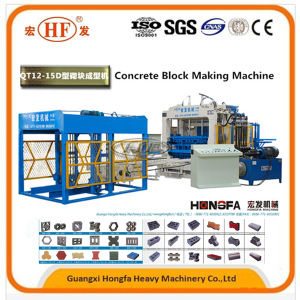 Full Automatic Cement/Concrete Paver Block/Brick Making Machine (QT12-15D QT12-15F) pictures & photos