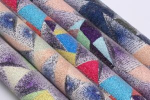 Shining Beautiful Glitter PU Faux Leather for Shoes, Bags, Furniture, Decoration, Garment (HS-Y109) pictures & photos
