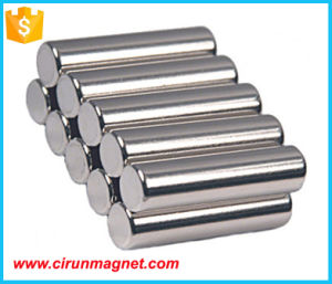 N52 D10*20mm Cylinder Bar Neodymium Magnet pictures & photos