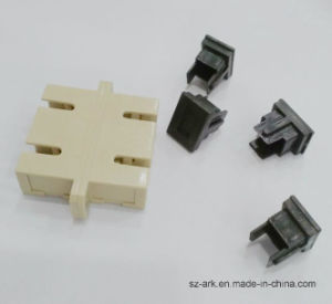 SC/PC Multimode Duplex Fiber Optic Adapter with Flange pictures & photos