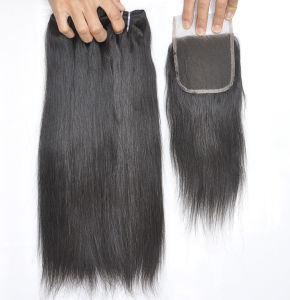 Unprocessed Labor Hair Extension 105g (+/-2g) /Bundle Natural Brazilian Virgin Straight Hair 100% Human Hair Weaves Grade 9A pictures & photos