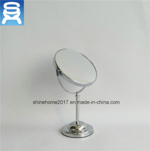 Foldable Double Sides Chrome Plating Bathroom Makeup Mirror for Cosmetic pictures & photos