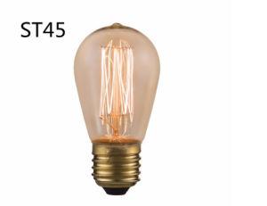 Carbon Filament Incandescent Edison Light Bulb St45 pictures & photos