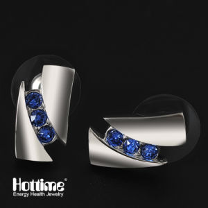 Fashion Elegance Earring with Blue CZ Diamond for Women-80001 pictures & photos