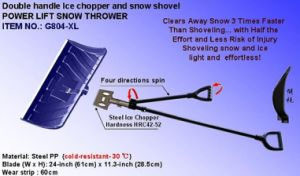 Double Handle Ice Chopper and Snow Shovel pictures & photos