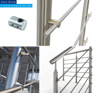 Inox Glass Railing / Cross Bar Holder / Stainless Steel Balustrade Fitting pictures & photos