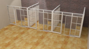 Popular Office Space separation Glass Partition with Sliding Door (SZ-WS685) pictures & photos