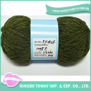 Cheap Fancy Cotton Designer Hand Knitting Polyester Yarn pictures & photos