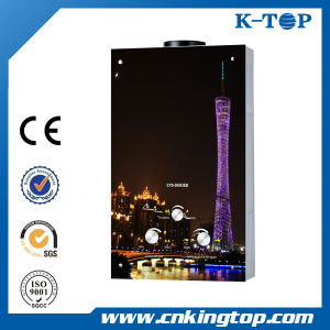 Black Color Glass Gas Water Heater, Hot Sales Gas Geyser pictures & photos