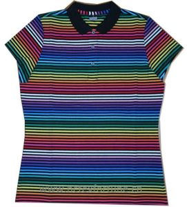 Women′s Yarn Dyed Polo