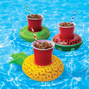 PVC or TPU Inflatable Fruit Floating Watermelon Coaster pictures & photos