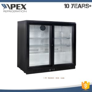 210L Double Glass Door Back Abr Beer Display Cooler with European Style pictures & photos