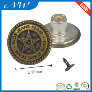 Perfect Fit Customized Metal Shank Button Jeans Button pictures & photos