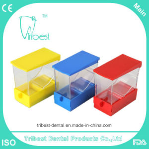 Plastic Dental Draw Cotton Roll Dispenser with Many Color