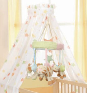 Baby Rotating Music Mobile Padding Attractive Bed 07333