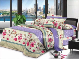 100% Microfiber Printed Complete Bedding Sheets Set with Soft and Cozy Touch Flat Sheets pictures & photos