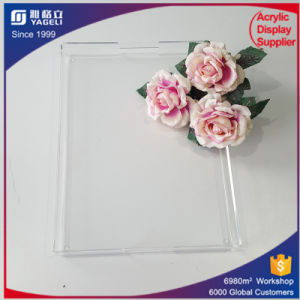 Best Selling Clear Acrylic Serving Tray Donut Holder with Handle pictures & photos