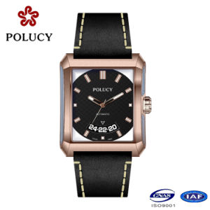 OEM Square Shape High Quality Men′s Mechanical Automatic Watch pictures & photos