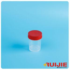 Disposable Plastic 40ml Urine Cup Container with Screw Cap pictures & photos