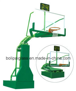 Tempered Glass Backboard Manul Hydraulic Movable Basketball Stand pictures & photos
