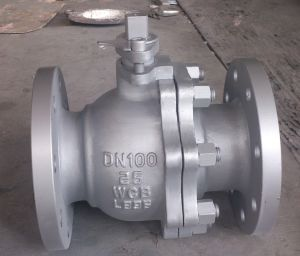 DIN Floating Steel Wcb Worm Gear Ball Valve (Q341F-PN25-DN100) pictures & photos