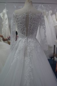 New Arrival Long Sleeves Bridal Wedding Dress pictures & photos