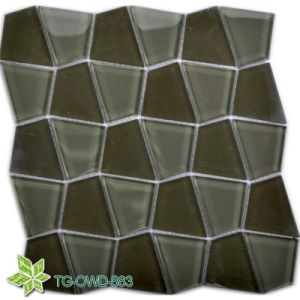 Black Quadrilateral Glass Mosaic (TG-OWD-883) pictures & photos