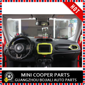 Auto Accessory ABS Material Yellow Style Central Trim for Renegade Model (1PC/SET) pictures & photos