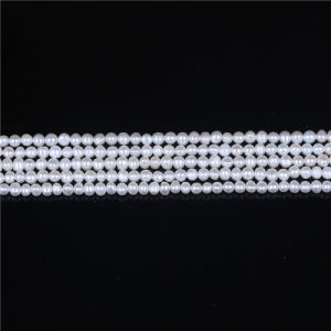 4mm 5mm Potato Shape Freshwater Pearl Strand pictures & photos